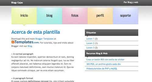 Blogy Cajas for Blogger