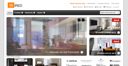 HelloWired theme for Magento