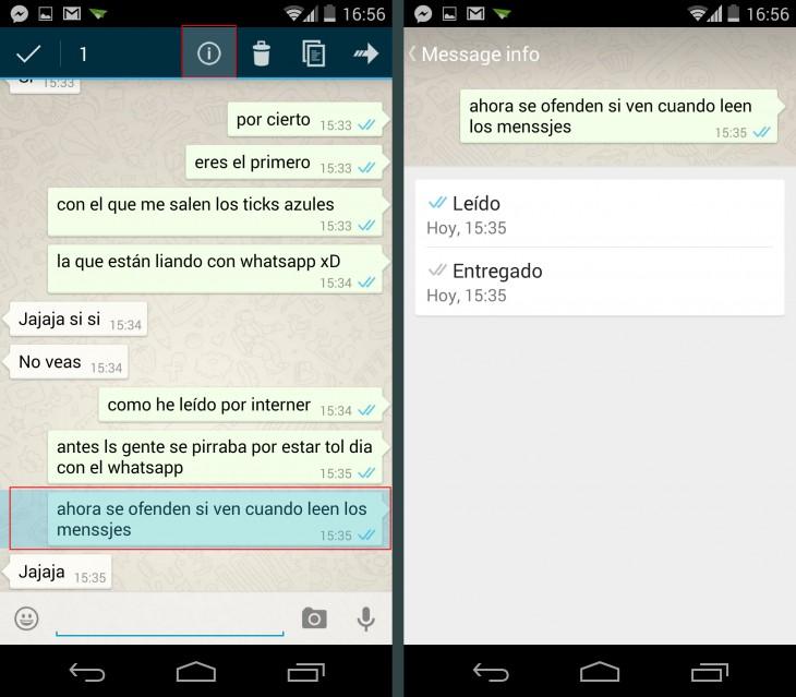 Evitar el doble check azul de WhatsApp