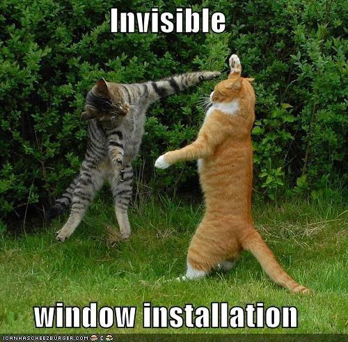 Instalación de ventana invisible