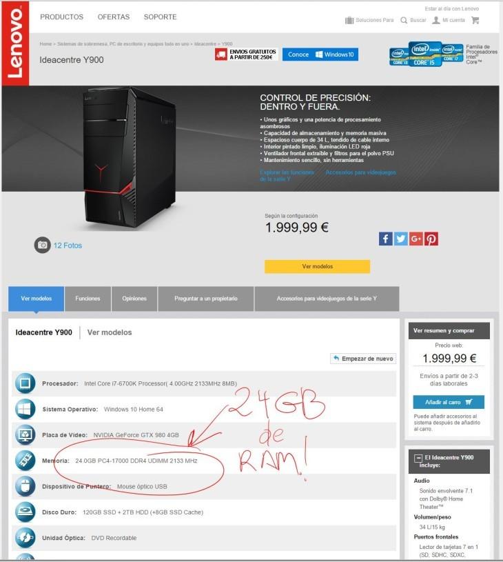 lenovo desktop 24 gb