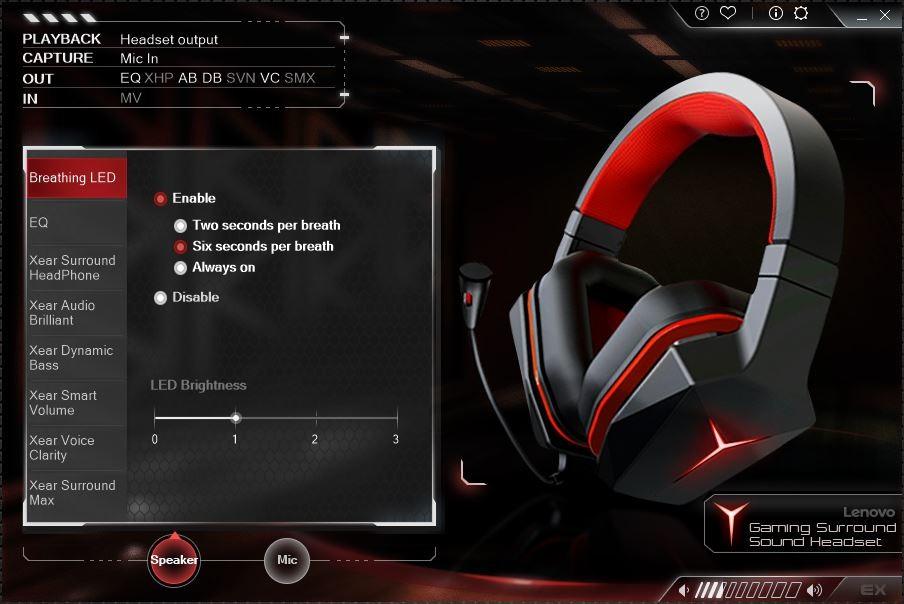 El nuevo Lenovo Y Gaming Headset incluye su propio software de configuración