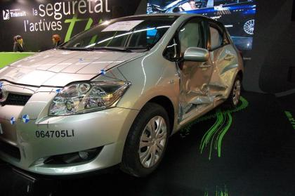 Toyota Auris tras choque lateral
