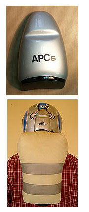 Airbag de APC Systems para casco de moto