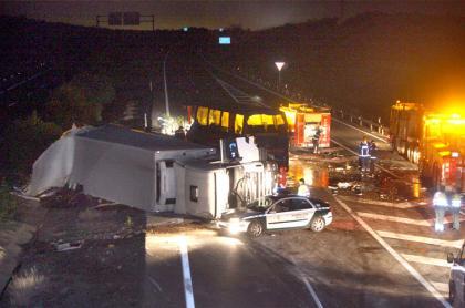 Accidente con camión implicado