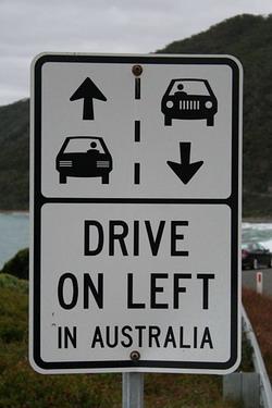 conducir por la izquierda