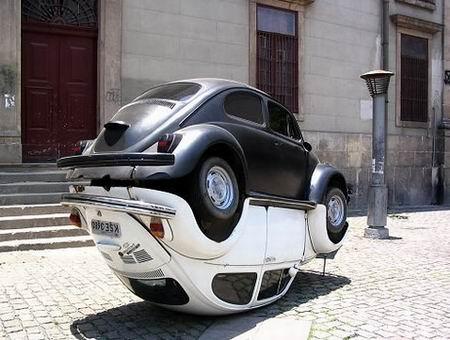 Volkswagen Beetle. Ying yang