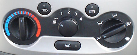 Climatizador del Chevrolet Kalos