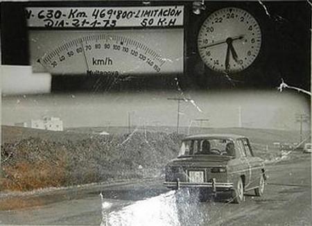 Foto de radar Multanova, 1973