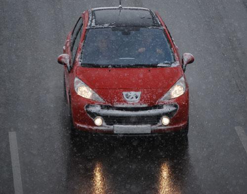 Nieve en coches