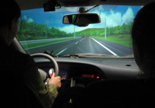 Simulador de conducción de coche