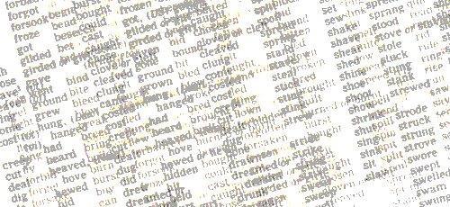 Verbos irregulares en inglés como ejemplo del apendizaje por memorización