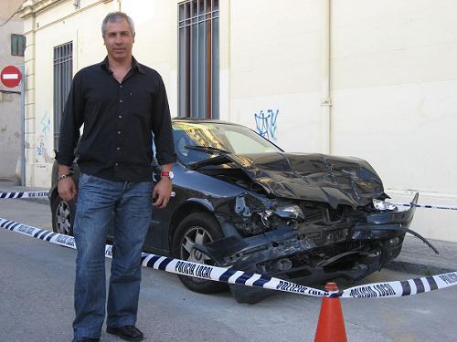 Miquel Bort, momentos antes de la conferencia sobre seguridad vial celebrada en Canet de Mar el 15 de mayo de 2009