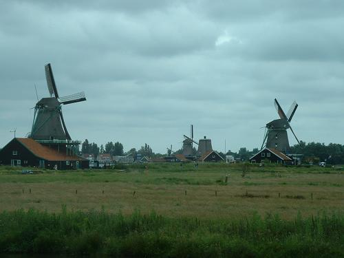 Molinos de viento en Holanda