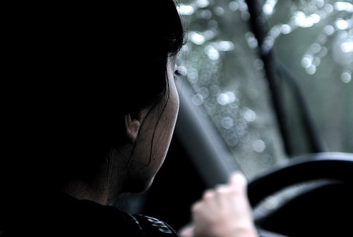 Vista del conductor desde atrás, como te ve el examinador