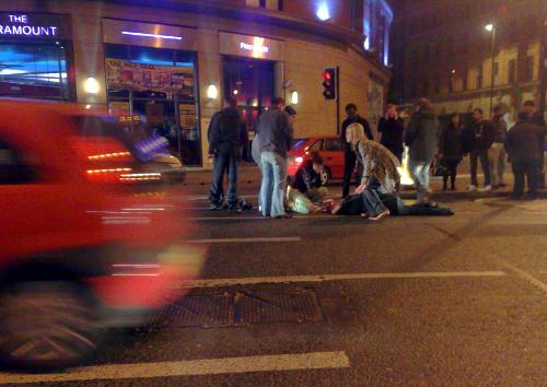 Los atropellos a peatones son gran parte de la siniestralidad vial urbana
