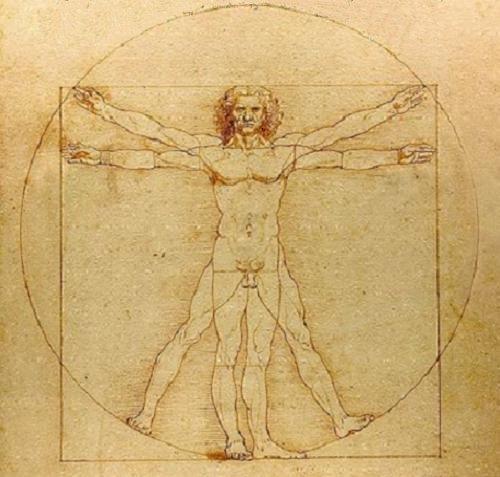 El Hombre de Vitruvio simboliza los límites del ser humano