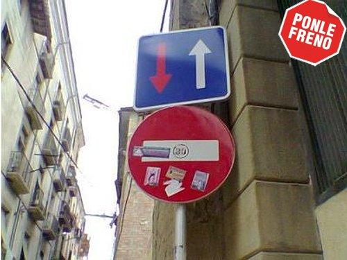 Prioridad de paso respecto al sentido contrario en una calle con entrada prohibida, en Vic