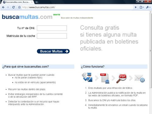 Pantallazo de buscamultas.com