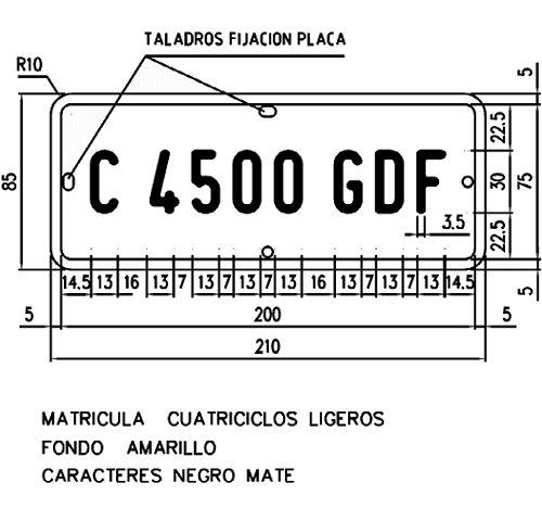 Matrícula de un cuatriciclo ligero