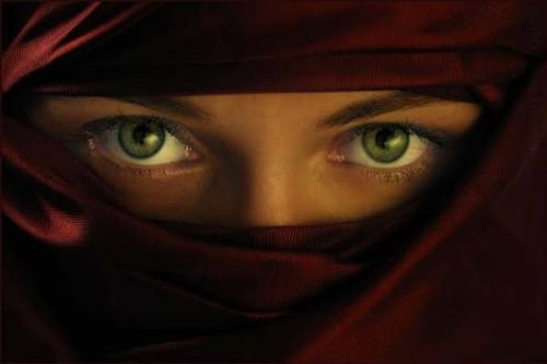 Ojos a través del niqab