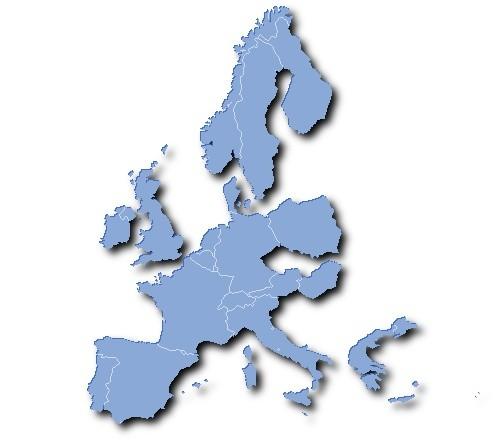 Países de Europa cubiertos por la aplicación web de Hella