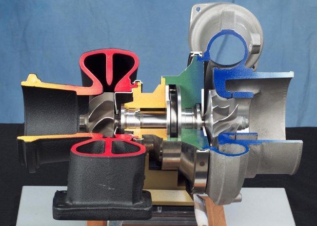 Turbocompresor utilizado por muchos vehículos espaciales de la NASA