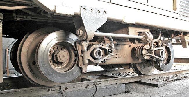 Frenos de disco en un tren