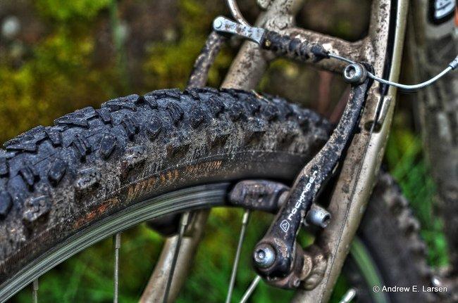 Freno de llanta en una bicicleta