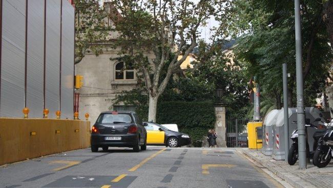 Intersección entre Mandri y Passeig de la Bonanova, en Barcelona