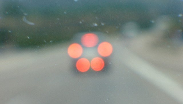 Luces de freno desenfocadas