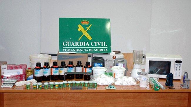 Drogas decomisadas por la Guardia Civil