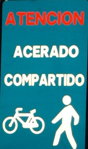 señal de peatones