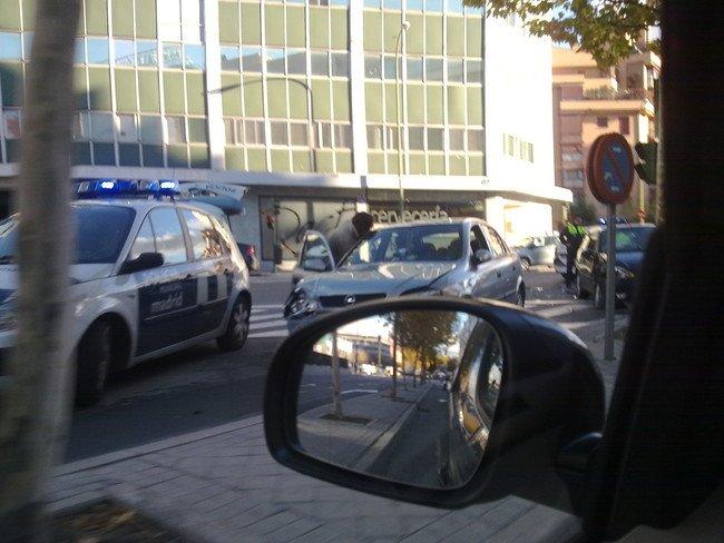Accidente de trafico en Madrid