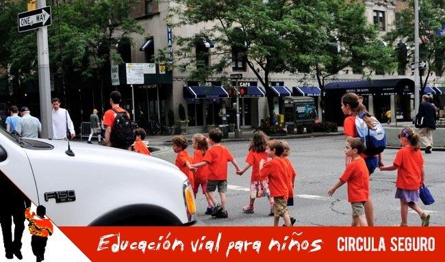 educacion vial para niños: cruzar la calle