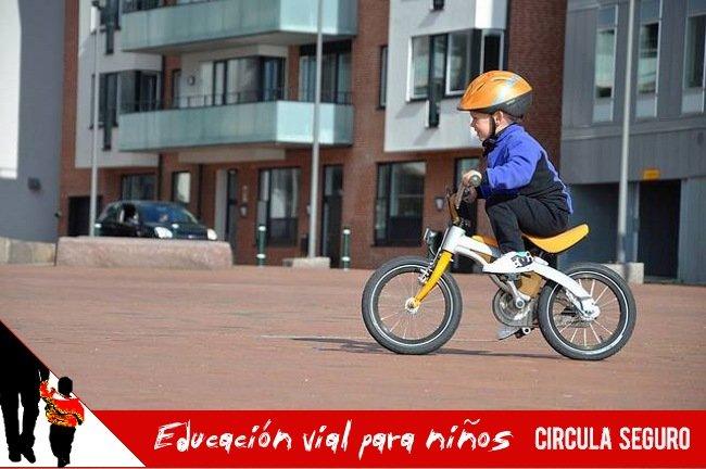 educacion vial para niños: Especial niños en bici