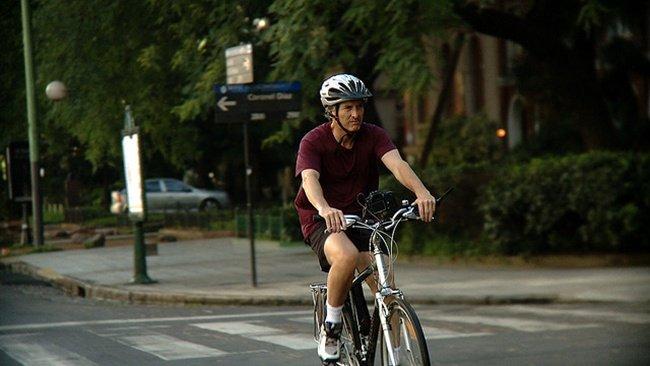Mauricio Macri en bicicleta por Buenos Aires