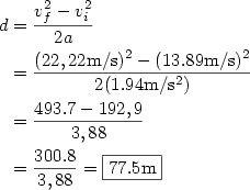 Cálculo de la distancia
