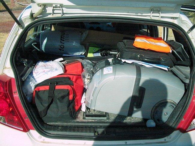 Cargando el maletero de JuanJaén