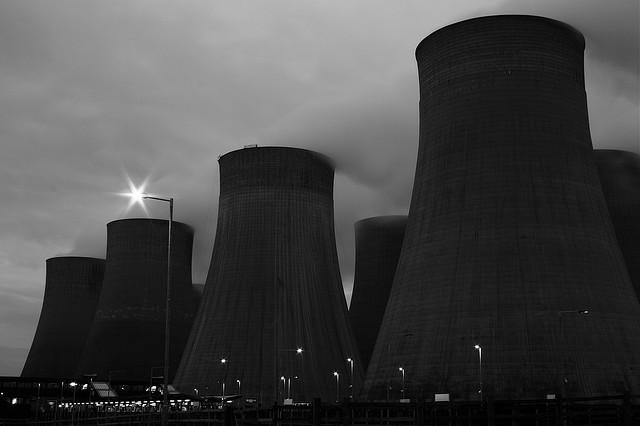 Torres de refrigración central nuclear