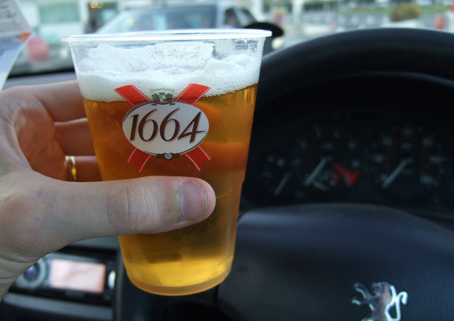 Alcohol en el coche