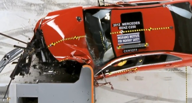 Crash test IIHS del Mercedes-Benz Clase C