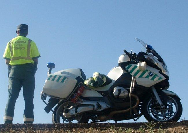 Motorista de la Agrupación de Tráfico de la Guardia Civil