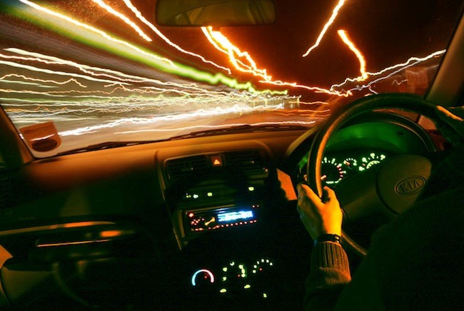 Interior coche noche