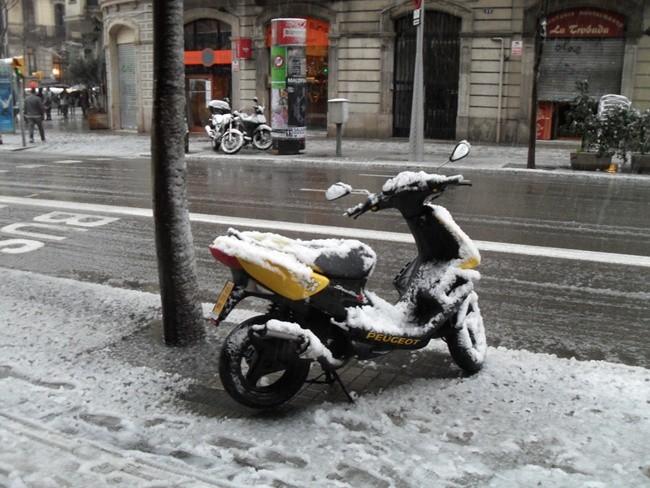 Invierno en moto
