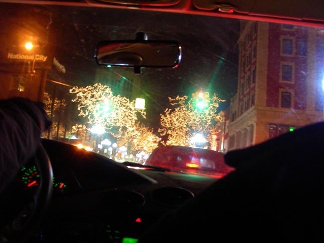 Navidad en coche