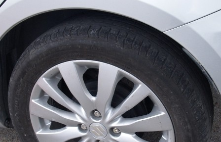 Neumático en mal estado