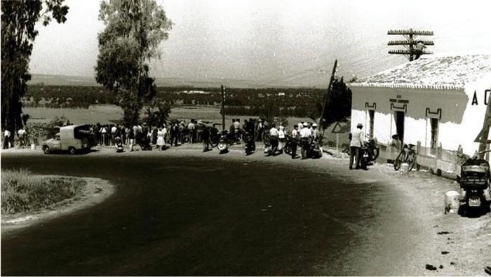 Imagen de la curva tras el accidente de 1961 donde fallecieron 22 personas