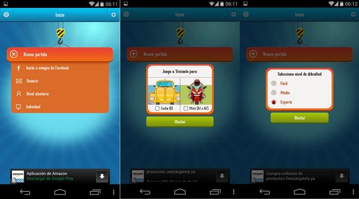 Triviauto es una app para Android que ayuda a sacar el teórico de conducir