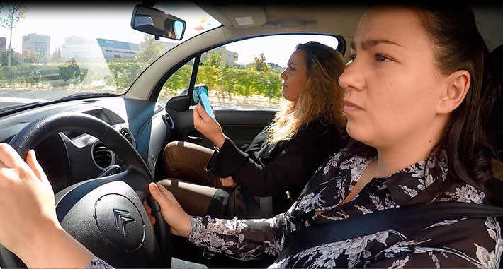 El papel de los pasajeros del coche